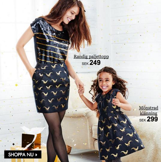 mamma och dotter klänning