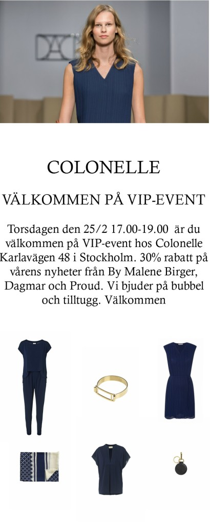 Colonelle VIP event 30 rabatt kopia
